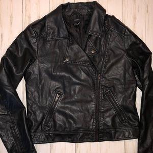 XXI Leather Moto Jacket Medium Womens EUC